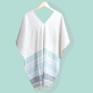 Tribe Alive Caftan Cover-Up~Seafoam NWT
